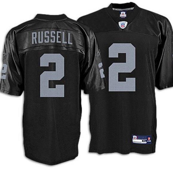 the best attitude b6b22 7ec3d JaMarcus Russell Reebok Oakland Raiders Jersey